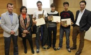 Acto de entrega de premios de la Olimpiada local de Física 2014